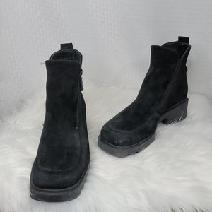 Ladies Bogner suede platform boots great cond